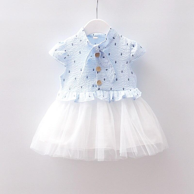 infant toddler kids newborn baby girl children dress frock summer  sleeveless cute white pink blue 9 12 18 24 months lace tutu 6893effa5