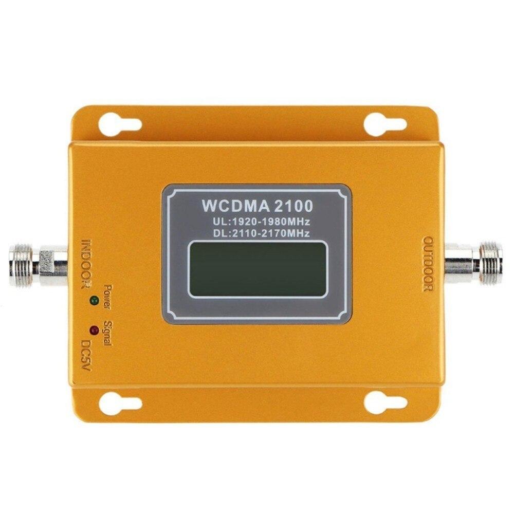 CDMA 3G 4G 2100 MHz LCD 3G del teléfono móvil de la señal de refuerzo repetidor amplificador de señal de teléfono móvil repetidor - 3
