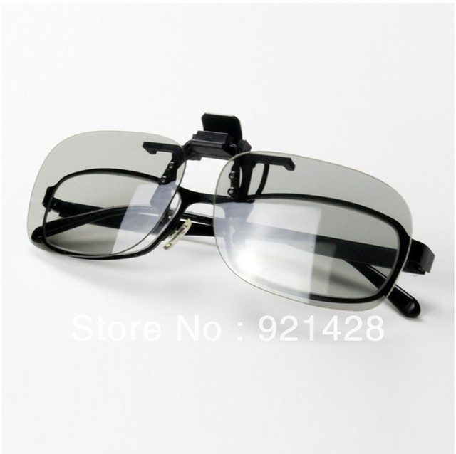 Not flash-type circular polarized 3D glasses myopia Clip-type polarized 3D TV display theater dedicated