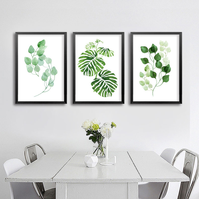 Leaf Wall Art online shop green plants canvas paintings natural leaf wall art