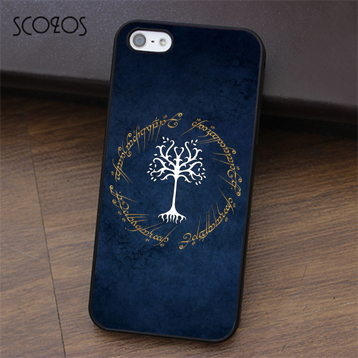 sale retailer a0b62 f7cca SCOZOS TREE OF GONDOR LOTR phone case for iphone X 4 4s 5 5s Se 5C 6 6s 7 8  6&6s plus 7 plus 8 plus #ea371-in Fitted Cases from Cellphones & ...