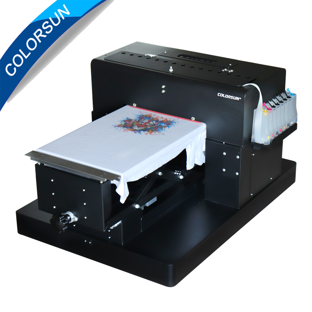 8 color A3 size Flatbed Printer T-shirt Flatbed printer Textile Printer for T-Shirt Printing Machine with DX5 printhead