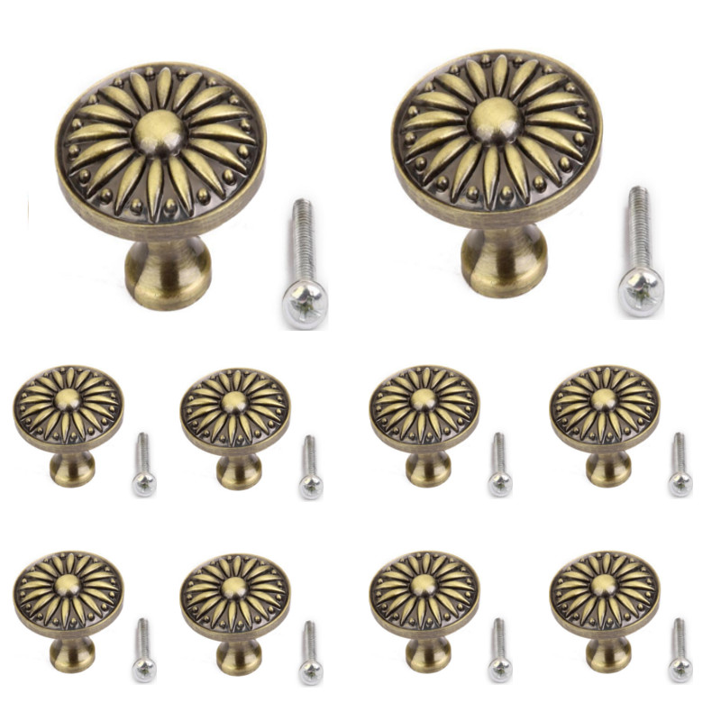 10pcs Retro Metal Kitchen Drawer Cabinet Door Handle Furniture Knobs Hardware Cupboard Pull Handles 3 colors 1 pair 4 inch stainless steel door hinges wood doors cabinet drawer box interior hinge furniture hardware accessories m25
