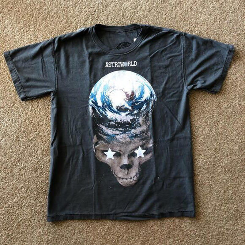 19SS ASTROWORLD RAVIS SCOTT STOP TRYNA BE GOD TEE Double Side Wear Astroworld T Shirt High Street Hip Hop Astroworld Tshirt in T Shirts from Men 39 s Clothing
