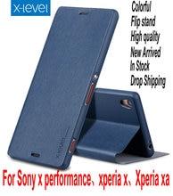 X уровня флип стоять Мягкий задняя крышка PU Роскошный кожаный чехол для Sony Xperia X/XA/x Performance XA1 XZ Премиум телефона САППУ
