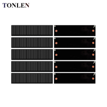 TONLEN 10pcs Solar Panel 5V Cheap DIY Sunpower Solar Cell Kits 100*28mm for Solar Battery Charger Power Bank Module Solar Panel