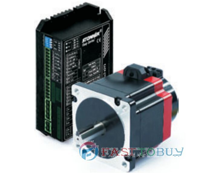 Cheap China NEMA34 86mm 2 Phase Closed-Loop Stepper Motor Drive kits with Encoder 10000P/R 20~70VDC 5.6A 4.8NM 86EMA-HA+86EDA-H toothed belt drive motorized stepper motor precision guide rail manufacturer guideway