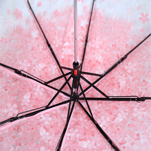 Fold-Umbrella Mushroom Blossom Transparent Clear Foldable Cherry-Pattern Pink Sakura
