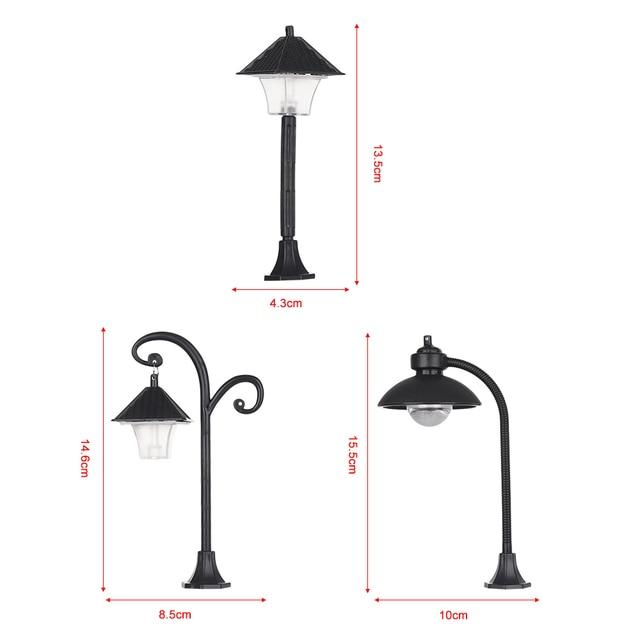 1PC Resin  Bonsai Ornament Street Lamp Figurine Streetlight Miniatures  Road Light Model Craft Home Decor Micro Landscape 6