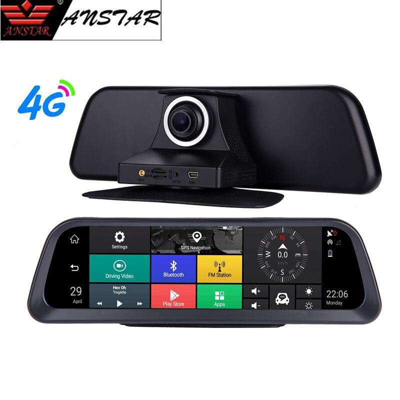 Anstar 10 ''grand écran tableau de bord voiture DVR 4G Android caméra automatique HD 1080 P tableau de bord caméra ADAS GPS Wifi moniteur à distance enregistreur DVR