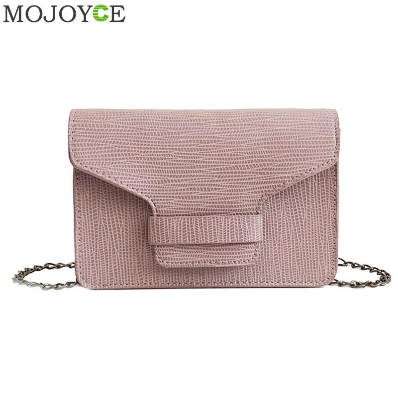 Alligator Crocodile Leather Mini Small Women Crossbody Bag Pure Casual Chain Womens Handbag Messenger Shoulder Bag with Pink