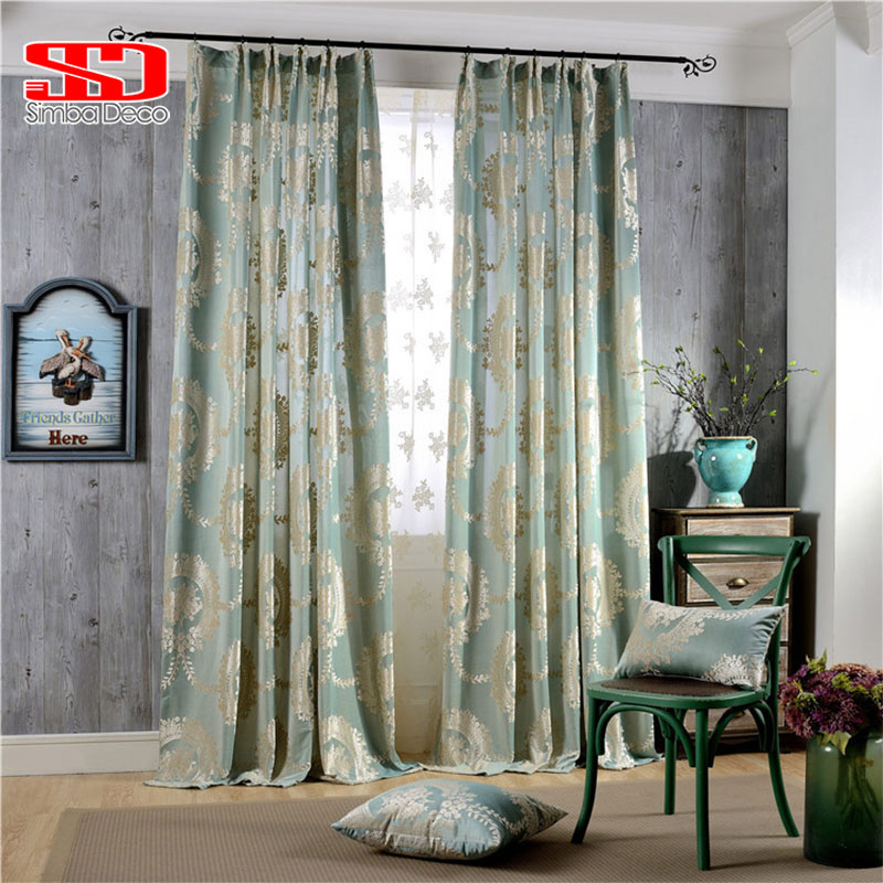 Blue Green Kitchen Curtains: Aliexpress.com : Buy Luxury Jacquard New Products Curtains