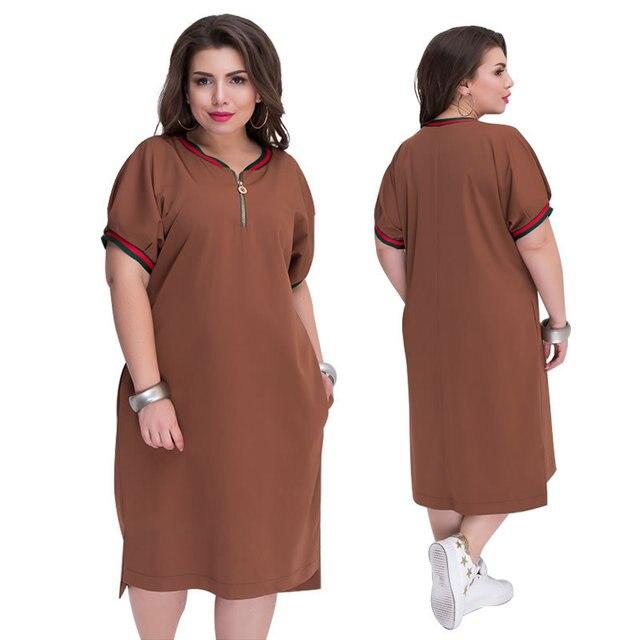 Tamanho grande 6xl vestido 2020mm gordura mulher vestido de verão elegante sólido retalhos vestidos plus size roupas femininas 6xl vestido