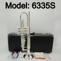 New Japan 6335S Professional Bb Trumpet Silver Plated Musical Instrument Professional Trumpet With Case Mouthpiece Accessories