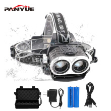 PANYUE 2018 Eagle Eye Design 2* XML-T6 6000LM Zoomable Waterproof LED Headlamp USB Rechargeable Headlight LED Headlamps sitemap 165 xml