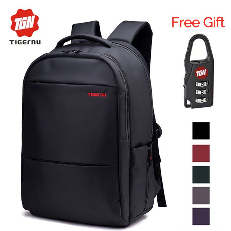 ФОТО 2017 Tigernu Unique Waterproof Nylon Men Backpack 17 Inch Backpack Fit 15.6