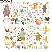 ZOTOONE Cute Animal Diy Patch for Clothes Iron-on Transfer on T-shirt Washable Stickers Applique Clothing Heat Kids Craft
