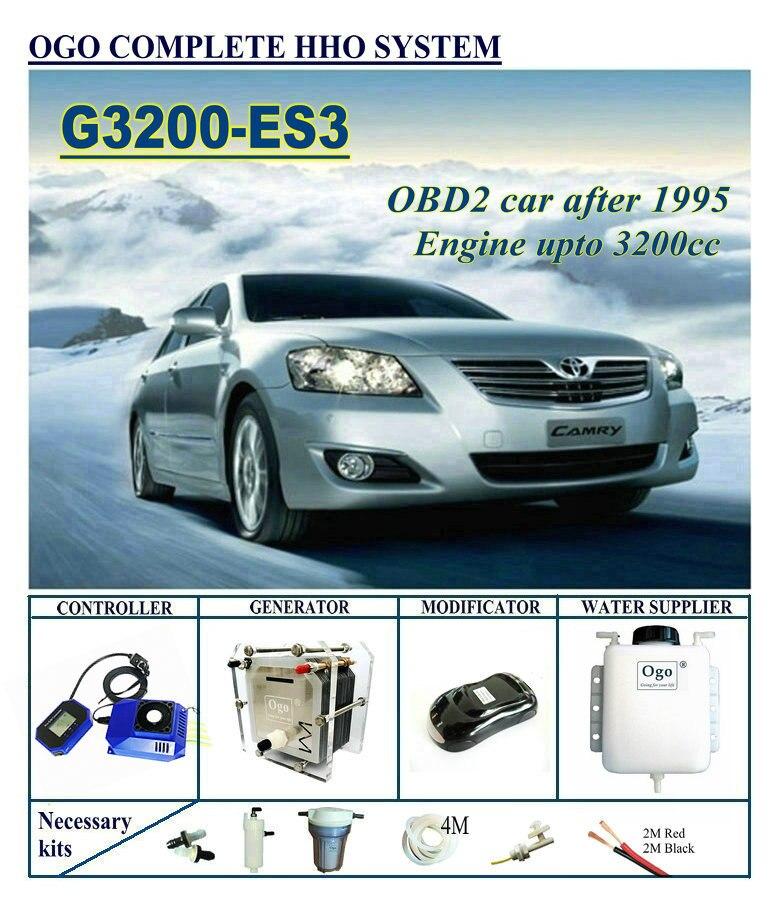 OGO HHO Completo sistema G3200-ES3 Smart CHIP PWM FINO A 3200CC