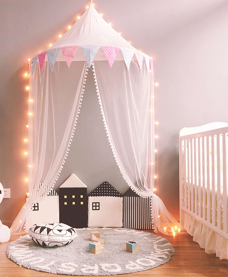 Kid Toy Tents Teepee Child Play Tent Portable Crib Tent Baby Play