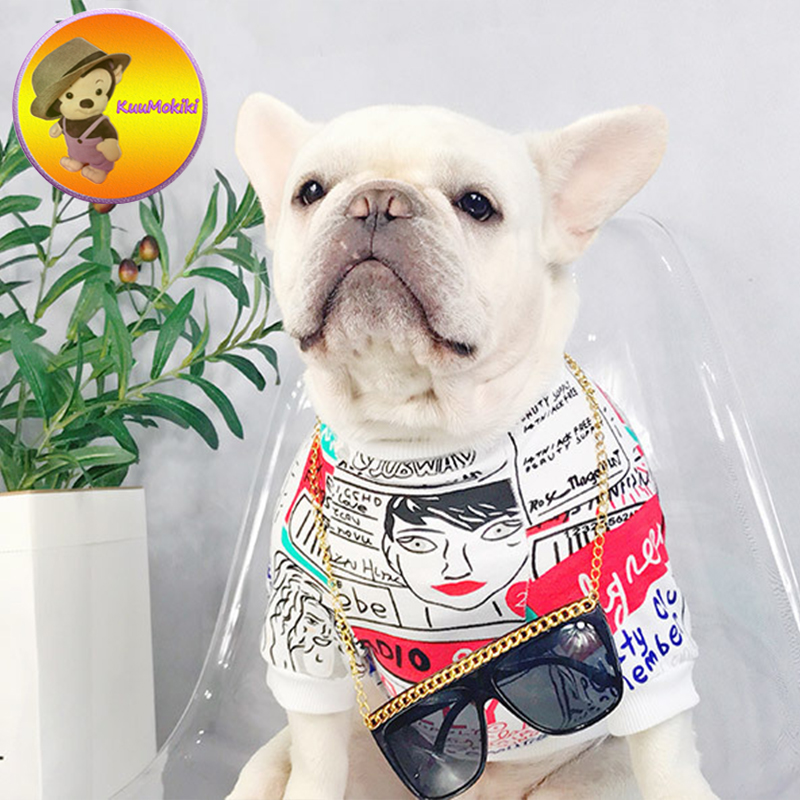 New Arrivals painting pets T shirt Puppy shirts dog clothes pet coat Vestidos dogs vest Dog Apparel French Bulldog clothing