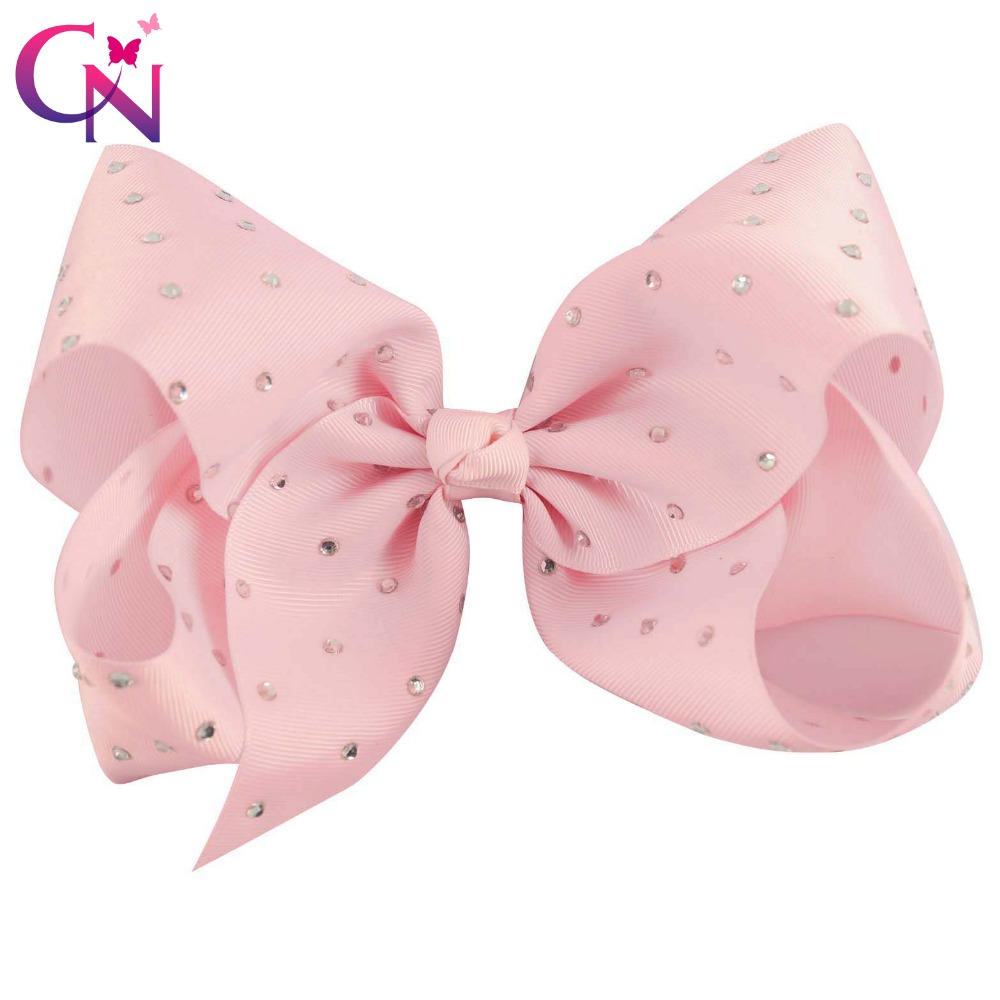 Careful Mism 1pc 8inch Bowknot Hair Clip For Children Gilrs Candy Color Hand-made Hair Bow Clips Cute Princess Hair Accessories Fine Quality Accessories