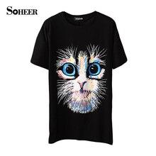 SOHEER 2017 New Fashion T-shirt Vintage Spring Summer T Shirt Women Clothing Tops Animal Owl Print T-shirt Woman or Man Clothes