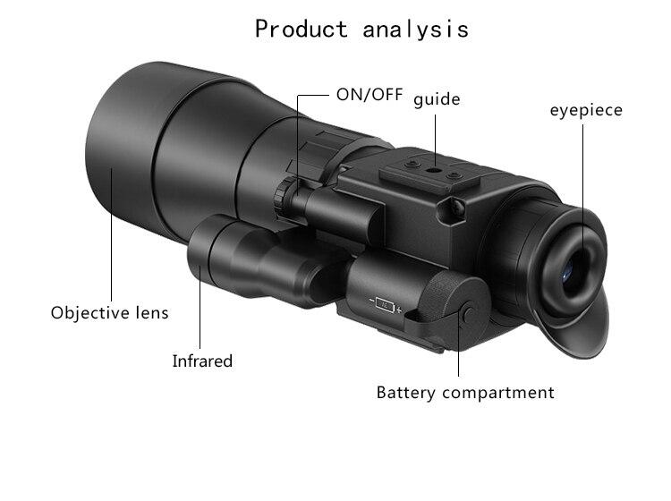 Pulsar challenger gs 4 5x60 nachtsicht gläser taktische für jagd