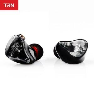 Image 1 - TRN IM2 1BA + 1DD Hibrid Kulak Kulaklık Koşu Spor Kulaklık DJ HIFI Kulaklık Özel Kulaklık Ayrılabilir Ayırmak 2Pin kablo
