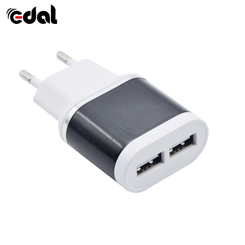 Portable Pinky Candy Color 2USB Mobile Phone Charger 2.1A Adapter IC Smart Phone Travel Charger