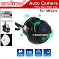 Freeshipping HD CCD камера 360 заднего вида камера парковки/вид Спереди авто камера/сбоку камеры для всех автомобили Fiat