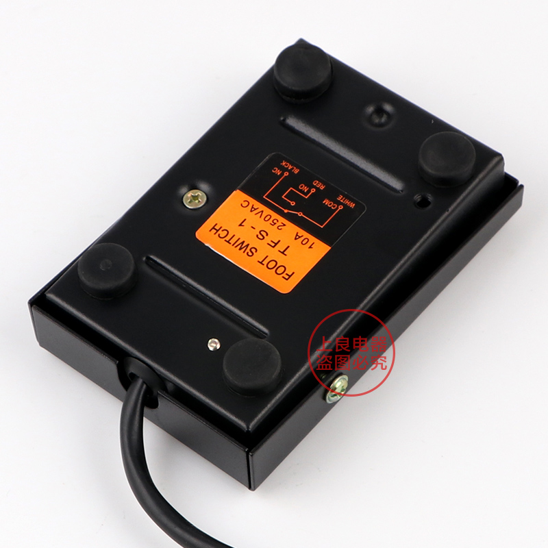 AC 220V 16A SPDT NO NC Antislip Momentary Power Treadle Foot Pedal Switch Footswitch TFS-1