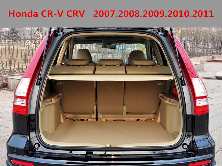 Car Rear Trunk Security Shield Cargo Cover For Honda CR-V CRV 2007.2008.2009.2010.2011 High Qualit Black Beige Auto Accessories car rear trunk security shield cargo cover for mitsubishi outlander 2013 2014 2015 high qualit black beige auto accessories
