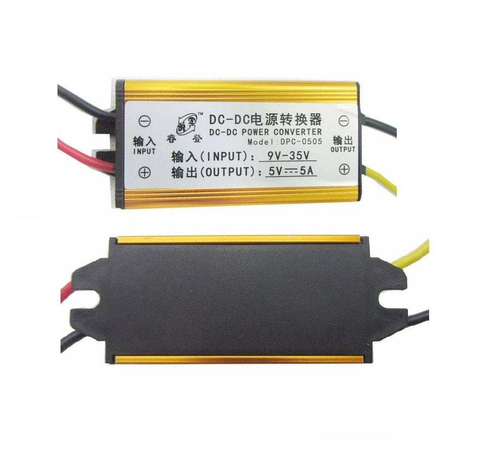 1pcs DC-DC 12V 24V to 5V 5A Buck Converter Voltage Regulator Step Down Power Supply Module Car/Vehicle LED converter dc 12v 24v 36v 6 5v 40v step down 3 7v 25a 92w dc buck module car power adapter voltage regulator waterproof