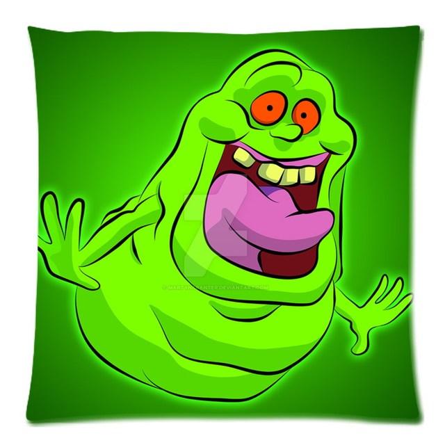 Ghostbusters Slimer Decorative Cotton Line Cushion Cover Square Safa Throw Pillow Case Diy Custom