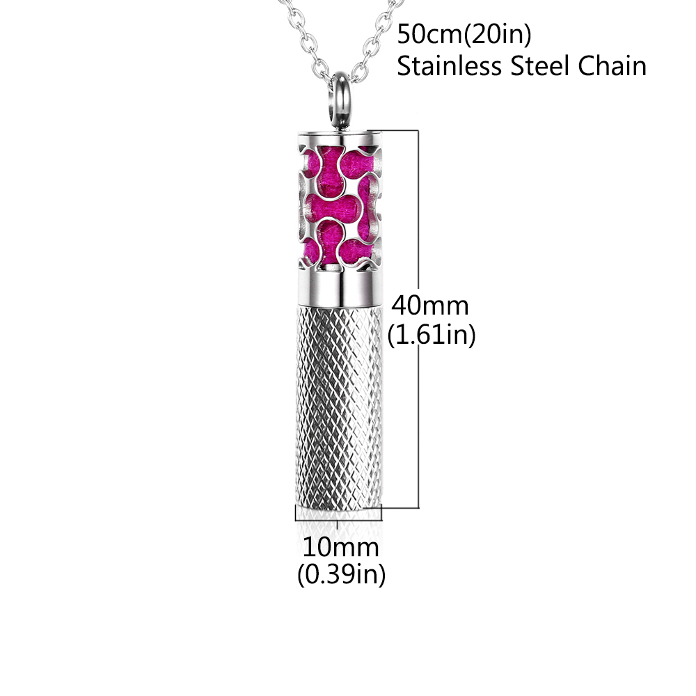 New Essential Oils Storage Diffuser Necklace Container Aromatherapy Locket Pendants in Stainless Steel with Pads Drop Shipping in Pendants from Jewelry Accessories