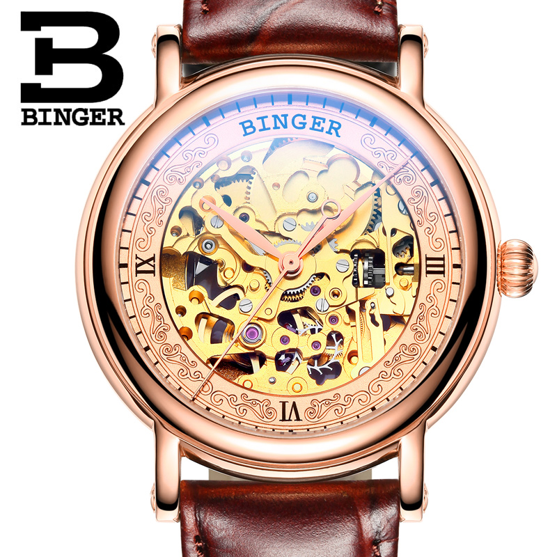 Switzerland BINGER Mens Watches Luxury Brand Automatic Mechanical Men Watch Sapphire Male Japan Movement reloj hombre B1107-3 switzerland mechanical men watches binger luxury brand skeleton wrist waterproof watch men sapphire male reloj hombre b1175g 1