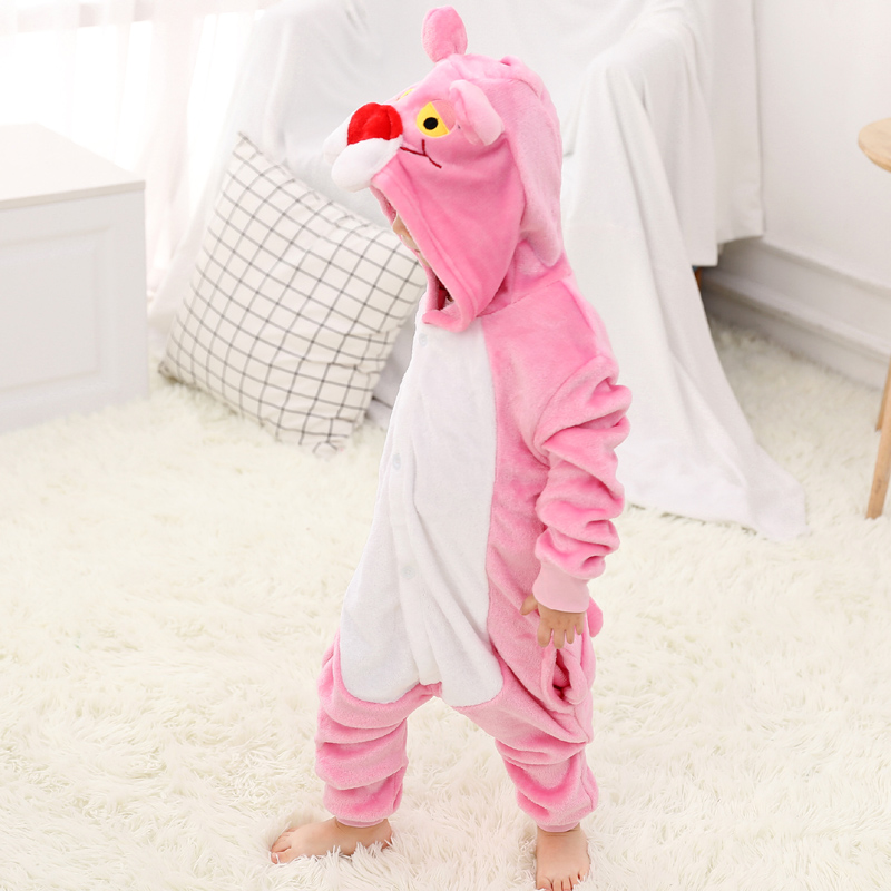 Funny Pink Panther Onesie Kids Kigurumi Pajamas Baby One-Piece Cartoon Animal Pyjamas Cosplay Children Jumpsuit Winter Sleepwear (6)