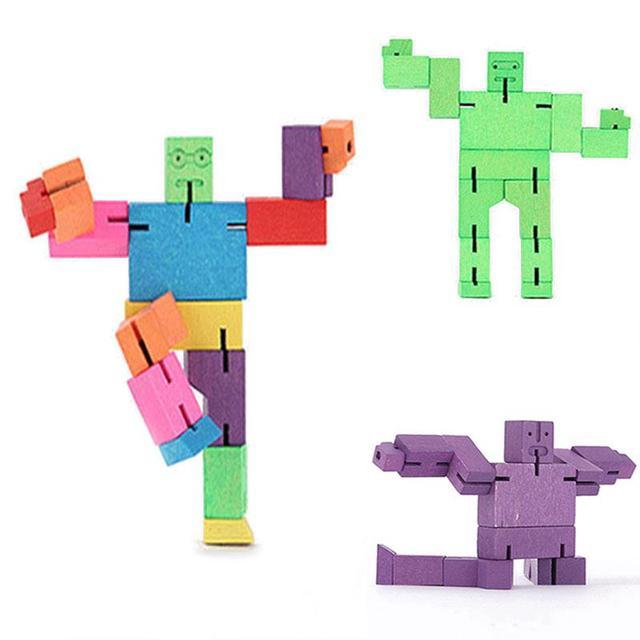Ninja Cubebot Madeira Transformador Rotativo Banda Brinquedos do Enigma da Combinação