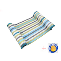 Swimming Pool Float Hammock Inflatable Stripe Water Hammock Lounge