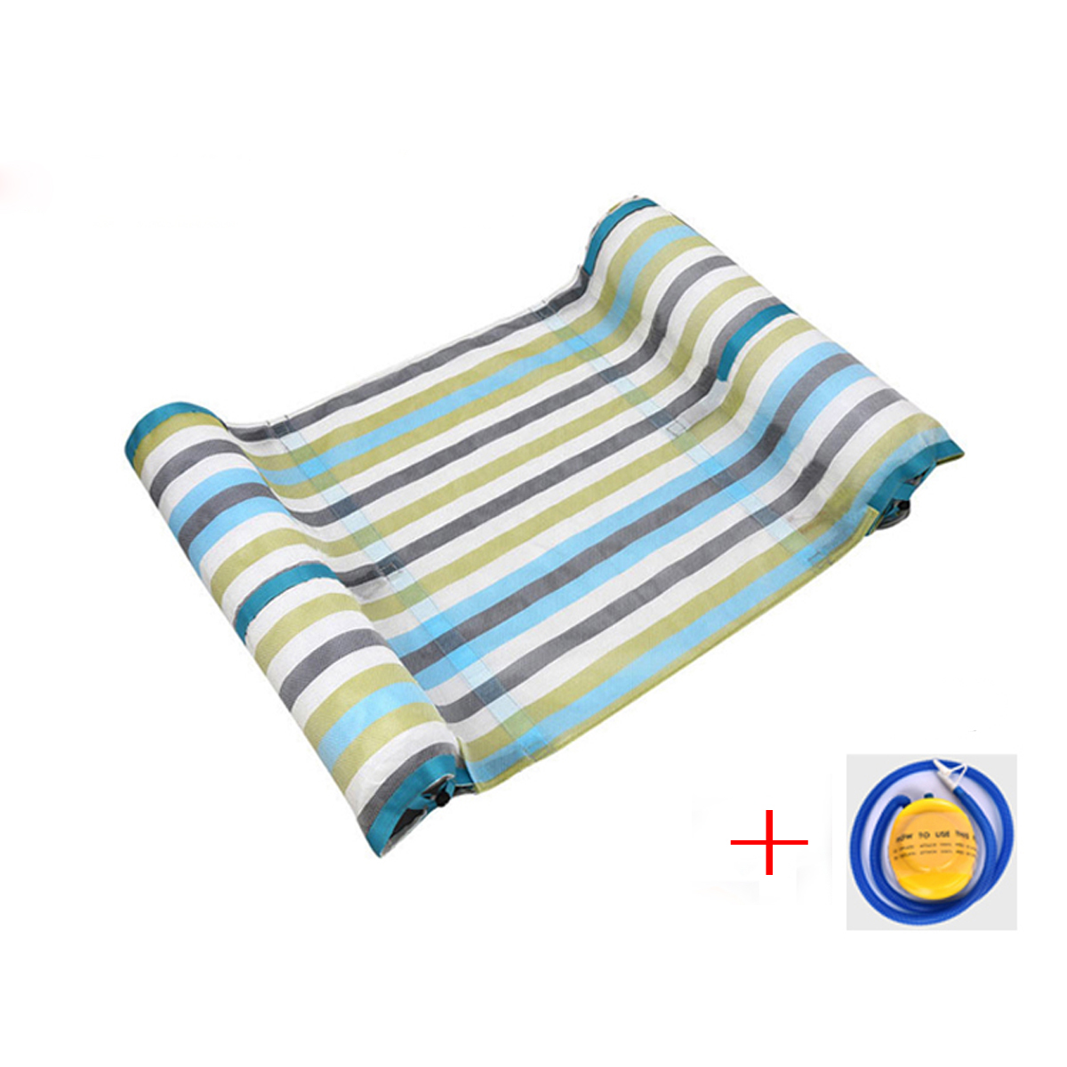 Swimming Pool Float Hammock Inflatable Stripe Water Hammock Lounge premium swimming pool float hammock lounge hammock pool mesh aqua white discontinued by manufacturer