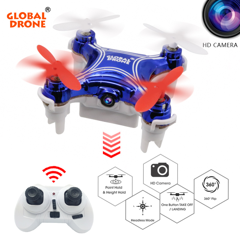 Global Drone GW009C-1 RC Dron Altitude Hold 2.4G 4CH 6Axis Quadrocopter Mini Drone with Camera Remote Control Toys for Boys
