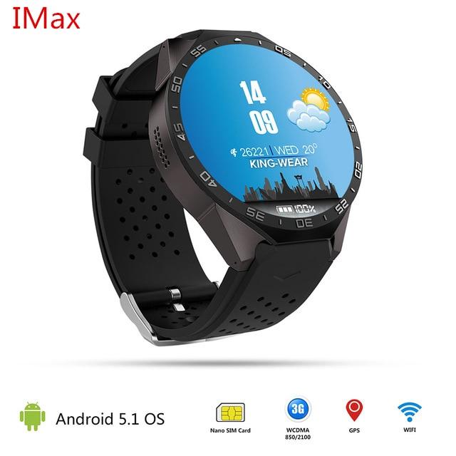 Kw88 Android 5.1 Смарт часы-512 МБ + 4 ГБ Bluetooth 4.0 WI-FI 3 г SmartWatch телефон наручные часы Поддержка Google Голос GPS карта