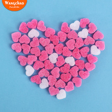 50pcs/bag Pink Mini Heart Wedding Gift Box Filler Happy Birthday Favor Boxes Filling Material Kawaii DIY Packing Accessories