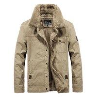 Men's Military Jacket Winter Thicken Warm Parkas Coats Outwear Fur Collar Cotton Jacket Male Bomber Pilot Jacket Men 5XL 6XL