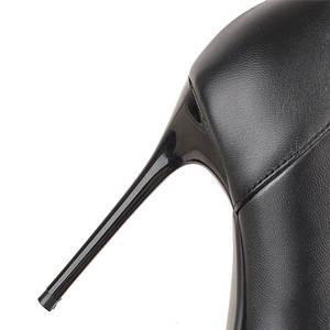 Image 3 - Женские ботфорты на шпильке MORAZORA, черные ботфорты на шпильке, без застежки, новинка осенне зимнего сезона 2020