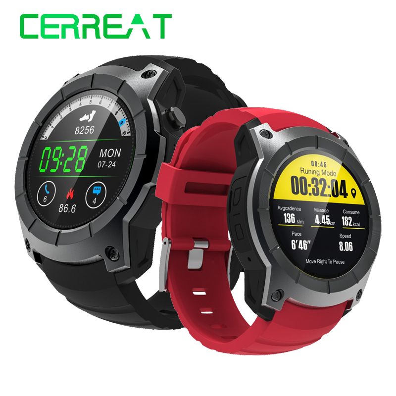 Cerreat S958 Sports Smart GPS Watch Heart Rate Monitor Smartwatch GPS Sport Running Support SIM Card for Men s958 gps smart watch multi function sport watch heart rate monitor watch support sim tf card barometer activity track music play