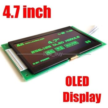 4.7'' inch OLED LCD Screen 256X128 OLED display module SPI/ 8 bit 3.3v  for IO level 51 STM32 ssd1322 control