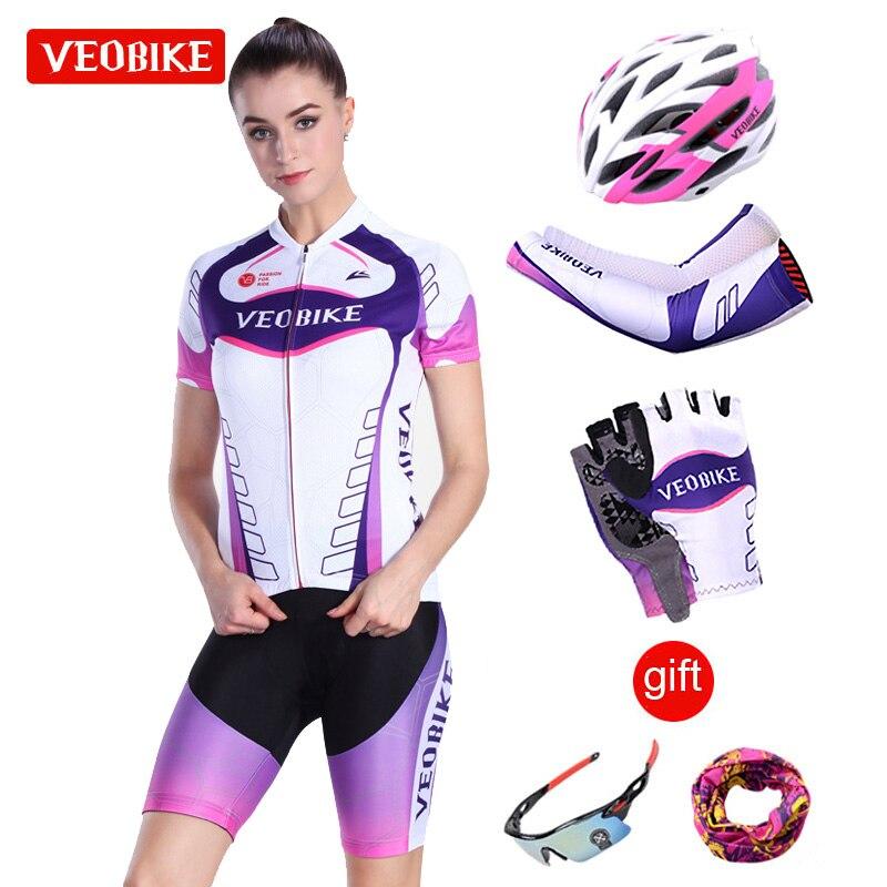 VEOBIKE Pro 2018 Vélo набор MTB велосипеда Костюмы дышащий велосипед Одежда Майо Roupas Ciclismo Велоспорт Набор Для женщин Наборы