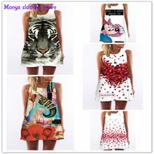 (S-XL)Monya High quality 2016 new summer printed o-neck novel women's dress Clothes For Pregnant Women Maternity Dresses