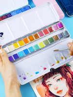 Rubens sólido pintura em aquarela 12/24 cor pearlescent aguarela doces cor em pó estudante artista arte suprimentos